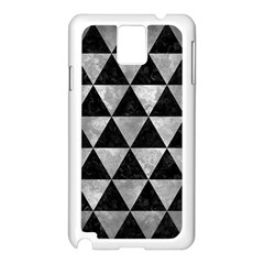 Triangle3 Black Marble & Gray Metal 2 Samsung Galaxy Note 3 N9005 Case (white)