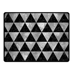Triangle3 Black Marble & Gray Metal 2 Double Sided Fleece Blanket (small)