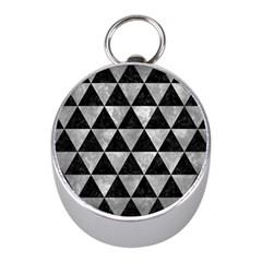 Triangle3 Black Marble & Gray Metal 2 Mini Silver Compasses