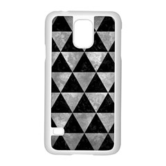 Triangle3 Black Marble & Gray Metal 2 Samsung Galaxy S5 Case (white)