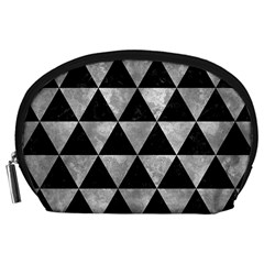 Triangle3 Black Marble & Gray Metal 2 Accessory Pouches (large)