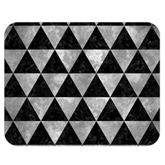 Triangle3 Black Marble & Gray Metal 2 Double Sided Flano Blanket (medium)