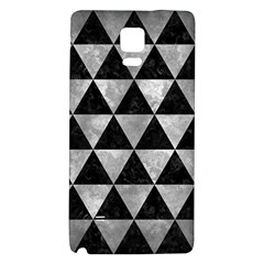 Triangle3 Black Marble & Gray Metal 2 Galaxy Note 4 Back Case