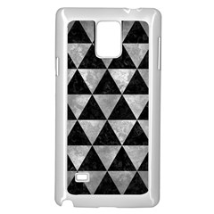 Triangle3 Black Marble & Gray Metal 2 Samsung Galaxy Note 4 Case (white)