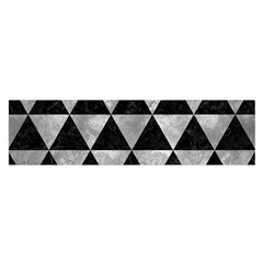 Triangle3 Black Marble & Gray Metal 2 Satin Scarf (oblong)