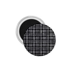 Woven1 Black Marble & Gray Metal 2 1 75  Magnets