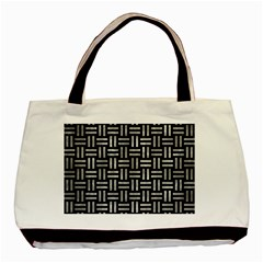 Woven1 Black Marble & Gray Metal 2 Basic Tote Bag
