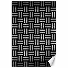 Woven1 Black Marble & Gray Metal 2 Canvas 20  X 30