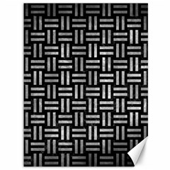 Woven1 Black Marble & Gray Metal 2 Canvas 36  X 48