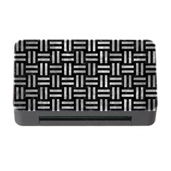 Woven1 Black Marble & Gray Metal 2 Memory Card Reader With Cf