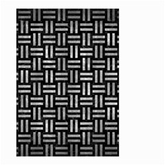 Woven1 Black Marble & Gray Metal 2 Small Garden Flag (two Sides)