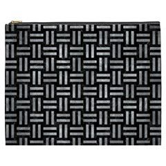 Woven1 Black Marble & Gray Metal 2 Cosmetic Bag (xxxl)