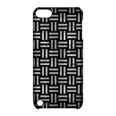 Woven1 Black Marble & Gray Metal 2 Apple Ipod Touch 5 Hardshell Case With Stand