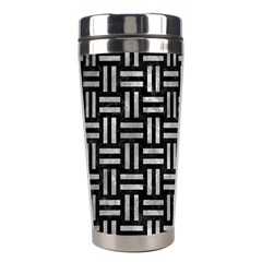 Woven1 Black Marble & Gray Metal 2 Stainless Steel Travel Tumblers