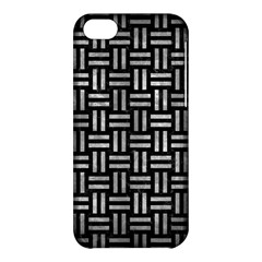 Woven1 Black Marble & Gray Metal 2 Apple Iphone 5c Hardshell Case