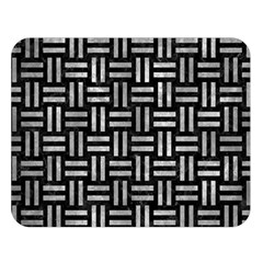Woven1 Black Marble & Gray Metal 2 Double Sided Flano Blanket (large)