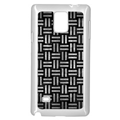 Woven1 Black Marble & Gray Metal 2 Samsung Galaxy Note 4 Case (white)
