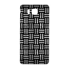 Woven1 Black Marble & Gray Metal 2 Samsung Galaxy Alpha Hardshell Back Case