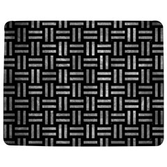 Woven1 Black Marble & Gray Metal 2 Jigsaw Puzzle Photo Stand (rectangular)