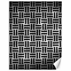 Woven1 Black Marble & Gray Metal 2 (r) Canvas 12  X 16