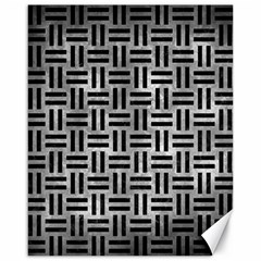 Woven1 Black Marble & Gray Metal 2 (r) Canvas 16  X 20