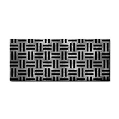 Woven1 Black Marble & Gray Metal 2 (r) Cosmetic Storage Cases