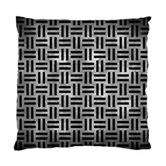 Woven1 Black Marble & Gray Metal 2 (r) Standard Cushion Case (one Side)