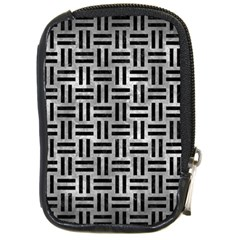 Woven1 Black Marble & Gray Metal 2 (r) Compact Camera Cases