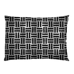 Woven1 Black Marble & Gray Metal 2 (r) Pillow Case (two Sides)