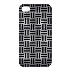 Woven1 Black Marble & Gray Metal 2 (r) Apple Iphone 4/4s Hardshell Case