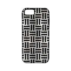 Woven1 Black Marble & Gray Metal 2 (r) Apple Iphone 5 Classic Hardshell Case (pc+silicone)