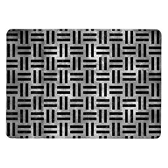Woven1 Black Marble & Gray Metal 2 (r) Samsung Galaxy Tab 10 1  P7500 Flip Case