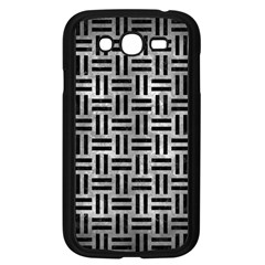 Woven1 Black Marble & Gray Metal 2 (r) Samsung Galaxy Grand Duos I9082 Case (black)