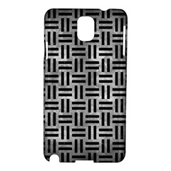 Woven1 Black Marble & Gray Metal 2 (r) Samsung Galaxy Note 3 N9005 Hardshell Case