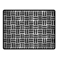 Woven1 Black Marble & Gray Metal 2 (r) Double Sided Fleece Blanket (small)