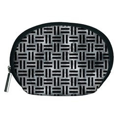 Woven1 Black Marble & Gray Metal 2 (r) Accessory Pouches (medium)