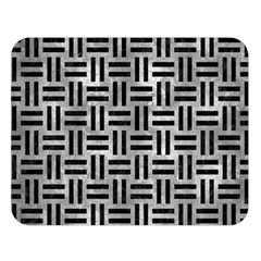 Woven1 Black Marble & Gray Metal 2 (r) Double Sided Flano Blanket (large)