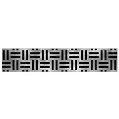 Woven1 Black Marble & Gray Metal 2 (r) Flano Scarf (small)