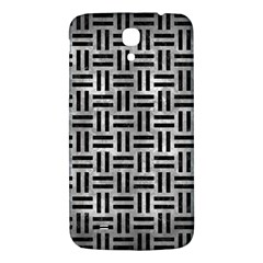 Woven1 Black Marble & Gray Metal 2 (r) Samsung Galaxy Mega I9200 Hardshell Back Case