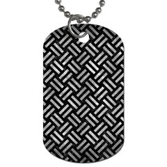 Woven2 Black Marble & Gray Metal 2 Dog Tag (one Side)