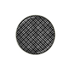 Woven2 Black Marble & Gray Metal 2 Hat Clip Ball Marker (4 Pack)