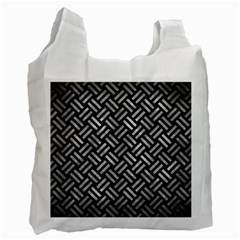 Woven2 Black Marble & Gray Metal 2 Recycle Bag (one Side)