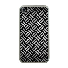 Woven2 Black Marble & Gray Metal 2 Apple Iphone 4 Case (clear)