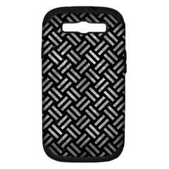 Woven2 Black Marble & Gray Metal 2 Samsung Galaxy S Iii Hardshell Case (pc+silicone)