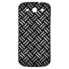 Woven2 Black Marble & Gray Metal 2 Samsung Galaxy S3 S Iii Classic Hardshell Back Case