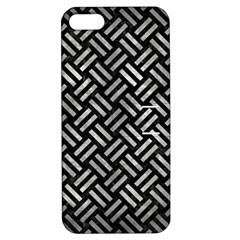 Woven2 Black Marble & Gray Metal 2 Apple Iphone 5 Hardshell Case With Stand