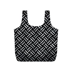 Woven2 Black Marble & Gray Metal 2 Full Print Recycle Bags (s)