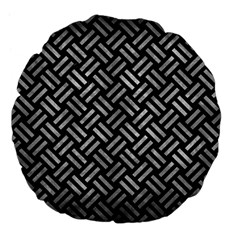 Woven2 Black Marble & Gray Metal 2 Large 18  Premium Flano Round Cushions