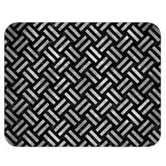 Woven2 Black Marble & Gray Metal 2 Double Sided Flano Blanket (medium)