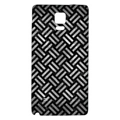 Woven2 Black Marble & Gray Metal 2 Galaxy Note 4 Back Case